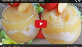 Peach Moscato Wine Slushies – Make ASAP!